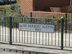 Sainsbury's - Sir Herbert Austin Way, Northfield - road sign