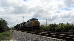 CSX - GE CW40-8 Locomotives 7305 and 7343