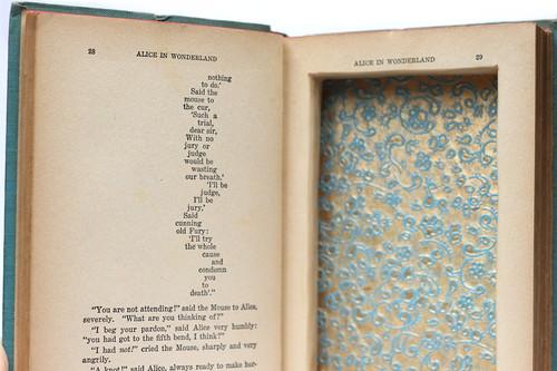 Vintage Alice in Wonderland Hollow Book