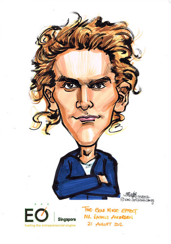 Mr Rasmus Ankersen caricature for EO Singapore