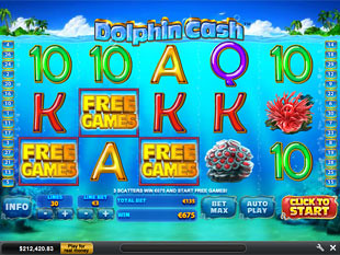 free Dolphin Cash bonus game