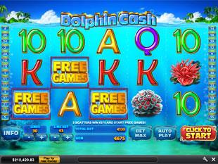 free Dolphin Cash bonus game