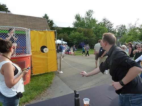 Paul at BuffaLoveFest Dunking Booth