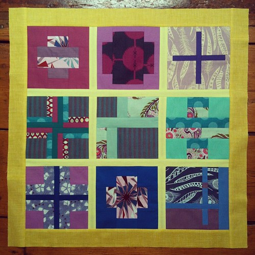 Mini quilt top #tula100