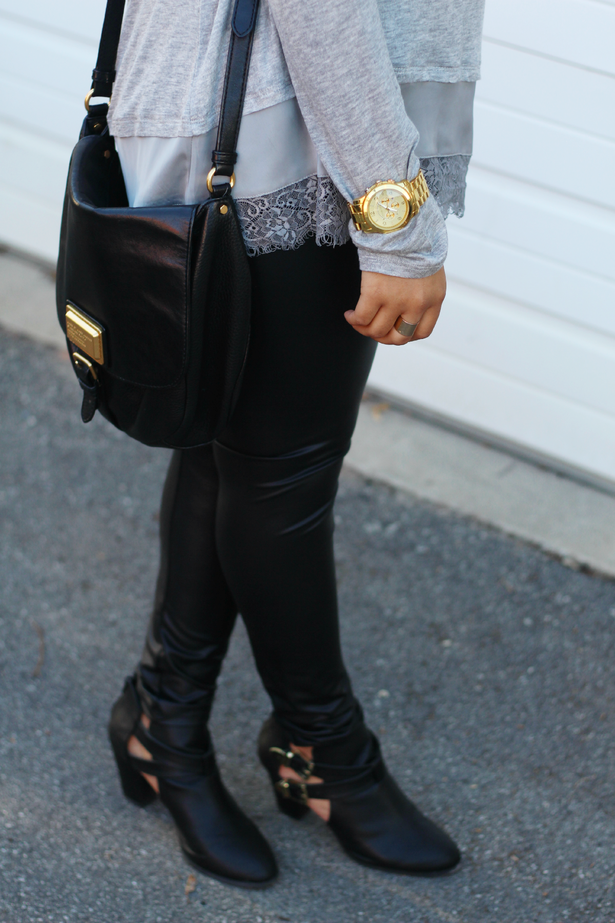Black Leather Leggings + Boots