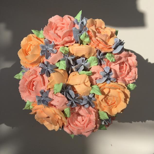 Flower Cake by Elisha Jaafar