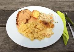 Schnitzel, Hähnchen, Farfalle, Kartoffelgratin &a…
