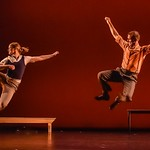 Traveling on tour at the JMU New Dance Festival. Photos courtesy of Richard Finkelstein