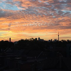 Good morning #toronto. Let's have a sunny day. #sunrise #nofilter