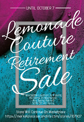 Lemonade Couture Retirement Sale