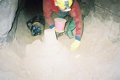 Steve Marsh building sandcastles Image