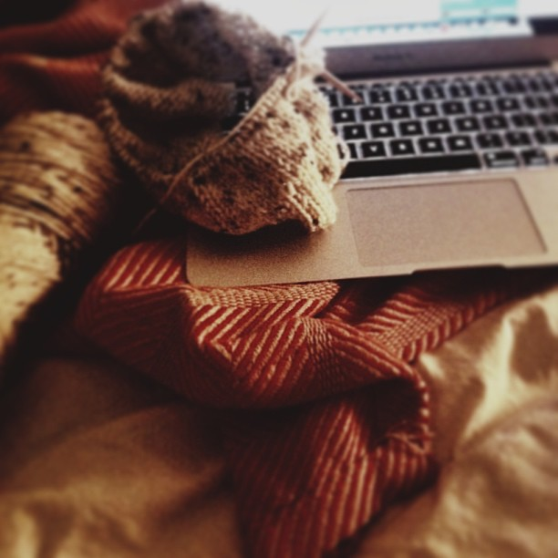 Knitting and NPR is a perfect end to my Wednesday. #vscocam