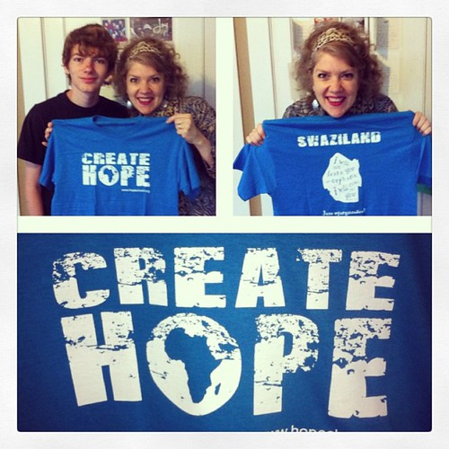 Definitely smiling over my belated bday gift from David that arrived today.  Well worth the wait for sure. --- via @frametastic #childrenshopechest #createhope #africa #swaziland #blue #tshirt #blueandwhite #birthdaygift #blessed #bhevenicarepoint