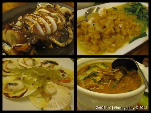 Café Laguna - Sizzling Squid, Kalabasa, Baked Scallops, Kare-kare