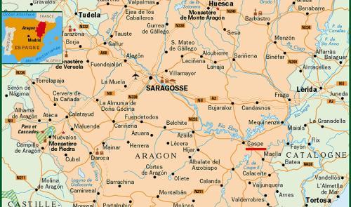 Mapa Zaragoza Espanha Mapa
