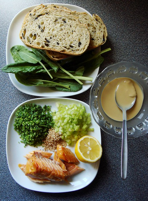 Ingredients for Smoked Fish Sandwich