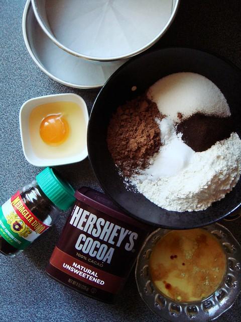 Hershey's Chocolate Cake: Ingredients