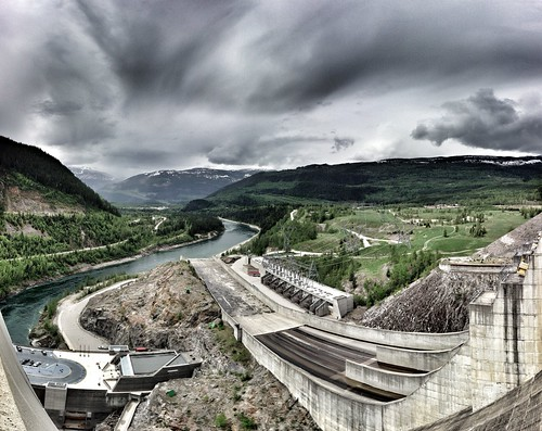 The Spillway of Revelstoke Dam