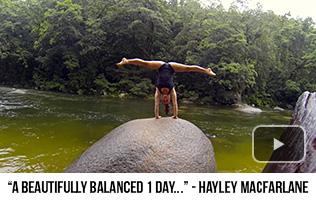 'A Beautifully Balanced 1 Day in Paradise' - Hayley MacFarlane