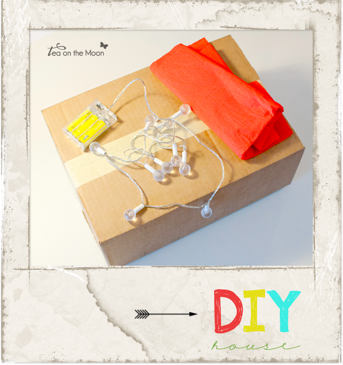 Casa con caja de cartón / DIY cardboard house
