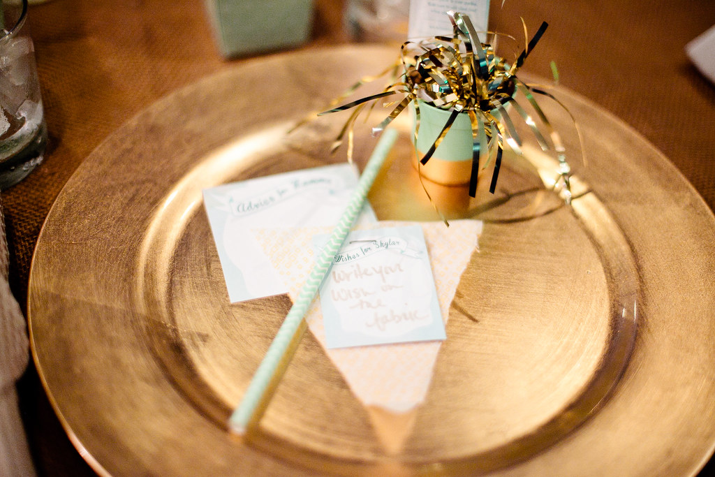 Mint + Gold Baby Shower