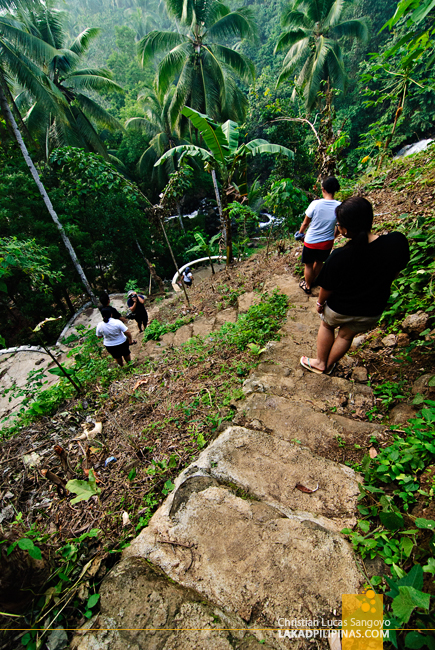 Steps Leading to Mimbalot Falls at Iligan City