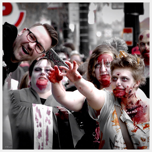 Zombie Walk 2013 - last laugh by Wanderfull1