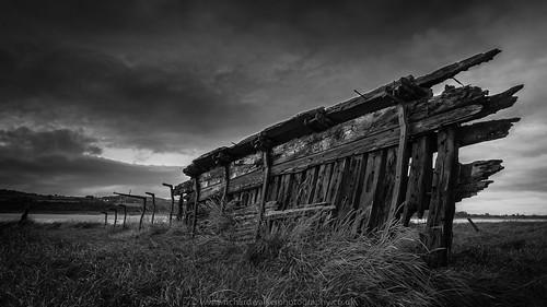 sky blackandwhite abandoned clouds boat hull purtonshipsgraveyard