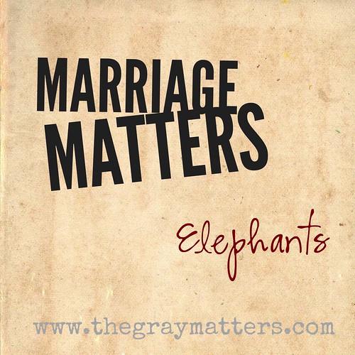 Marriage Matters- Elephants
