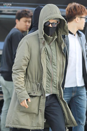 Big Bang - Incheon Airport - 01apr2015 - TOP - Utopia - 01