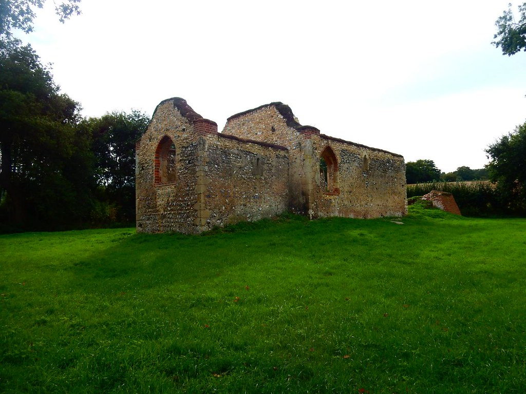 Ruined church of St James Henley Circular via Stonor
