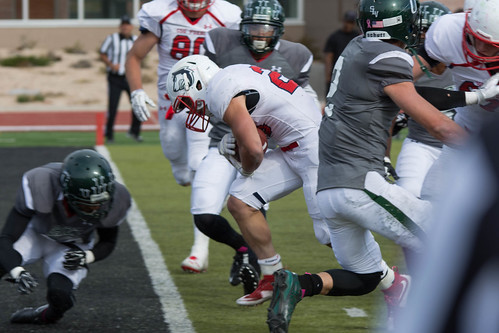 <p>Running back Bernard McDondle on his to the endzone for one of his four touchdowns on the day.</p>