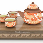 Chinese Tea Set Chinese 3D Models