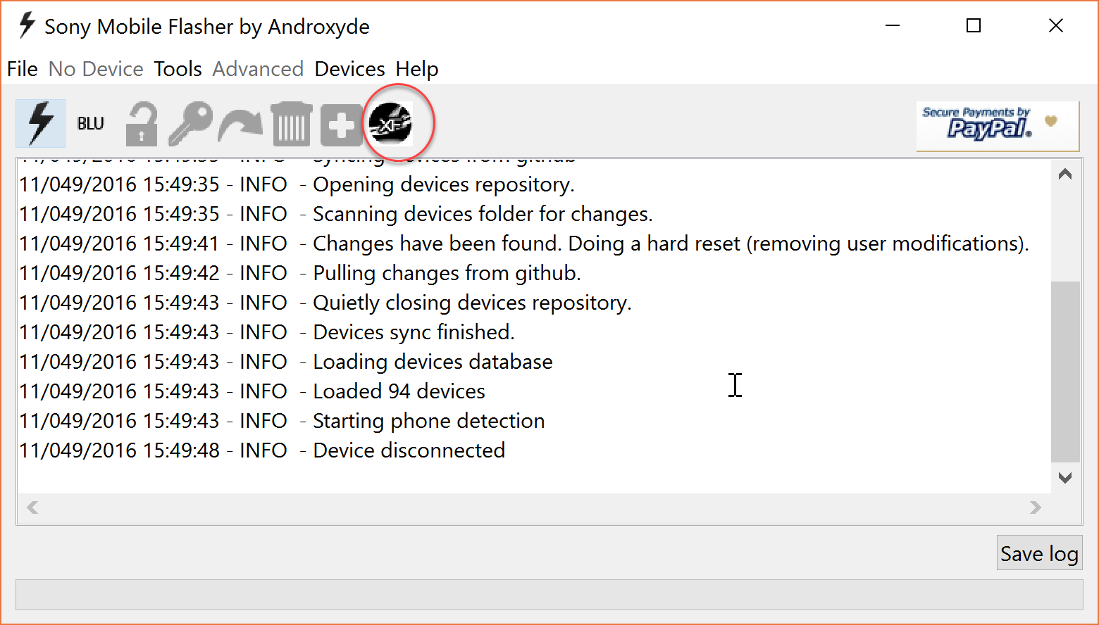 Download Xperia firmware  using Flashtool