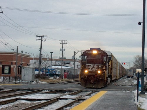 A westbound Norfolk Southern transfer train.  Elmwood Park Illinois.  December 2006. by Eddie from Chicago