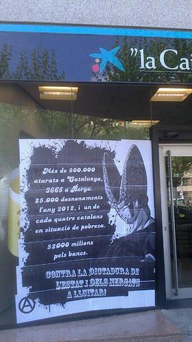 #escrache #caixabanc a Berga #1maig2013 #1demayo #1maigCGT