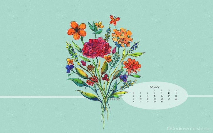 Free May Floral Background Download