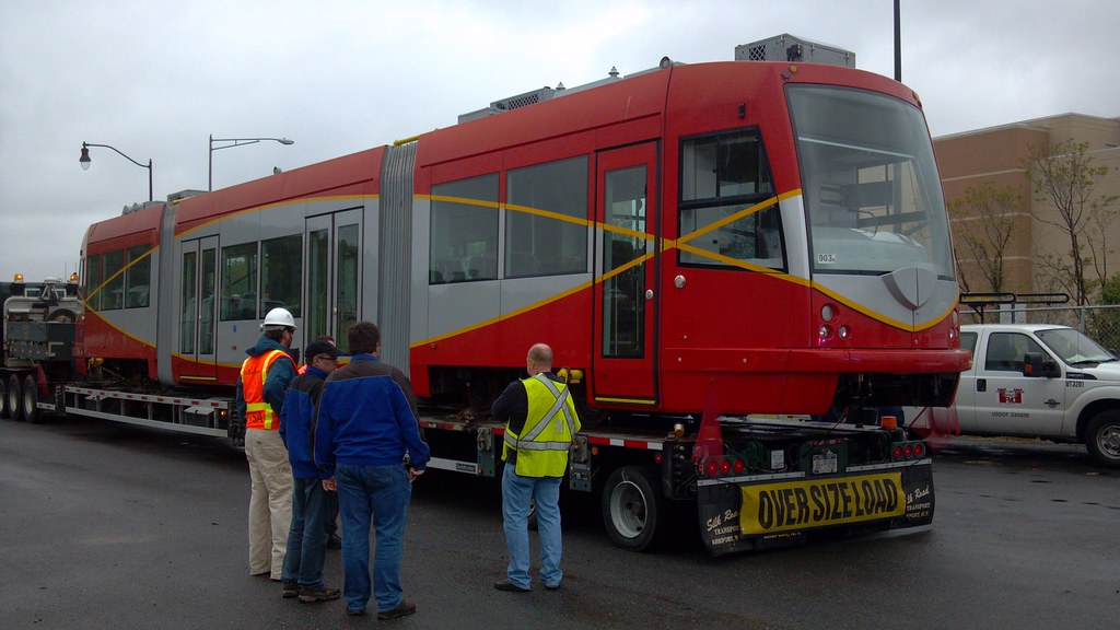 First vehicle arriving at the Testing & Commissioning Site