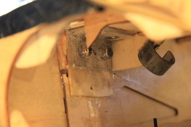 Aluminum bracket - port side