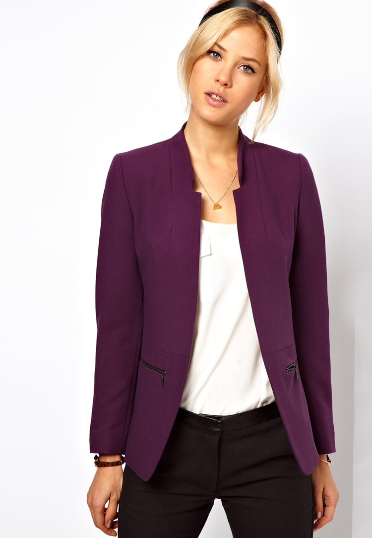 ASOS PETITE Exclusive Zip Pocket Notch Blazer