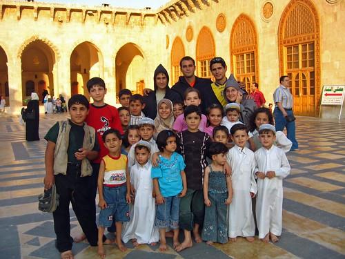 En la Mezquita Omeya de Alepo (Siria)