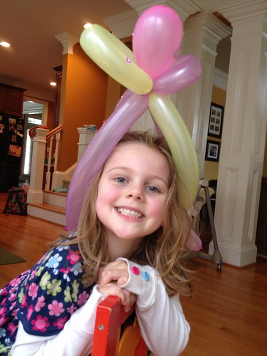 Birthday balloon hat from school