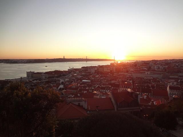 Por-do-Sol em Lisboa