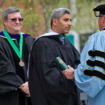 13cmc14 -- Juan Salgado '91 received an honorary doctor of humane letters degree prior to delivering the Commencement address.