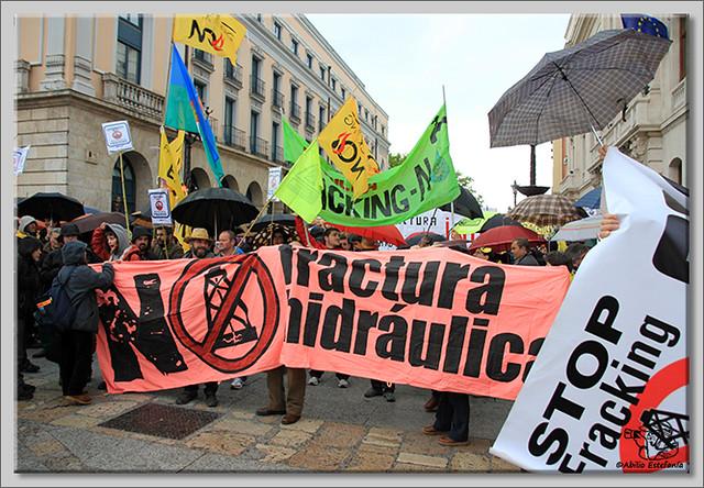 2 Manifestación contra el fracking en Burgos