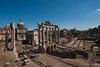 Rome Italy, view of the Roman Forum, archaeological site