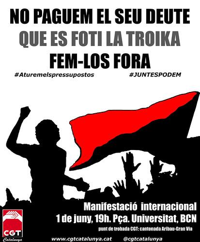 cartell CGT 1er Juny 2013 #1J #juntespodem