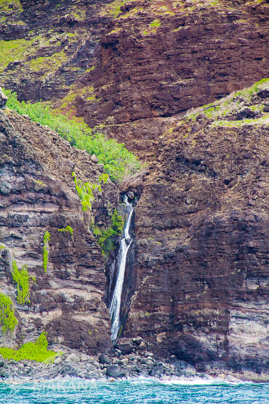 Waterfalls on Kauais Na Pali Coast