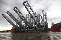 Massive Cargo Ship Delivers Cranes to Savannah Port