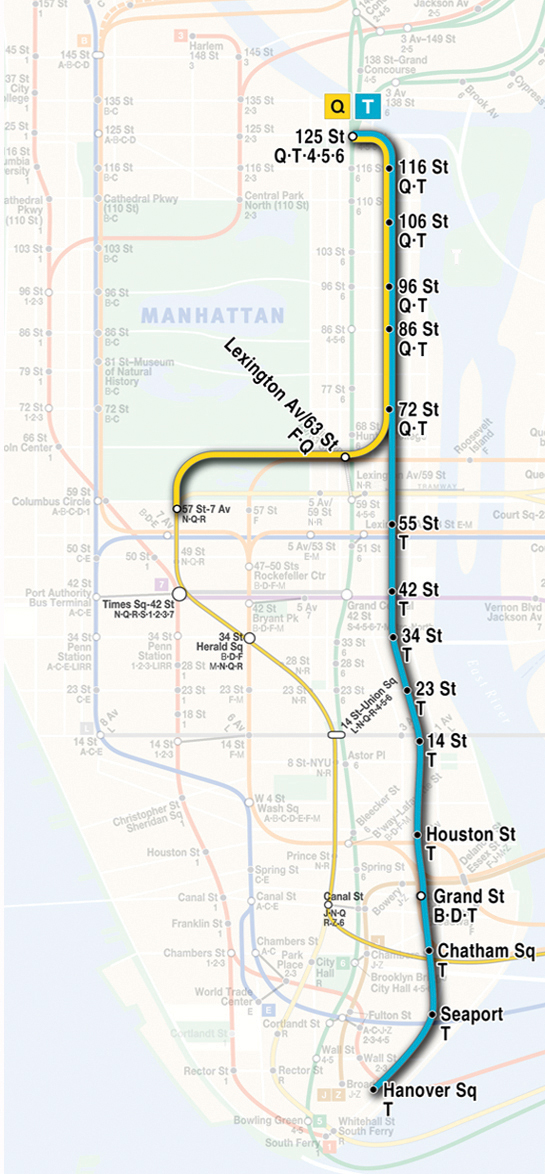 Second Avenue Subway Map
